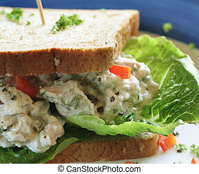 Sandwich - Wheat Bread with Vegetables Stuffing