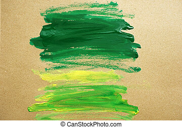 watercolor paint green strokes brush stroke color texture with space for your own text