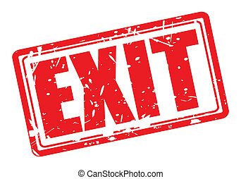 EXIT red stamp text on white