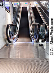 escalator - at the station have several escalators for each...