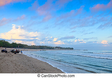 Kuta Beach, Lombok, Indonesia. Paradise place for surfing...