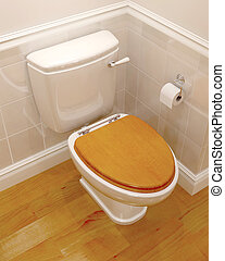 3d render of a toilet