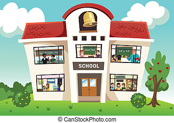 School activity - A vector illustration of school activity