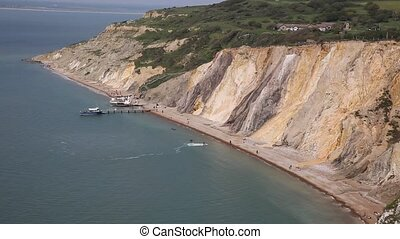 Alum Bay beach Isle of Wight - Alum Bay Isle of Wight...