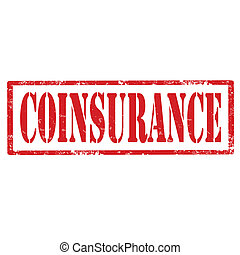 Coinsurance-stamp - Grunge rubber stamp with text...