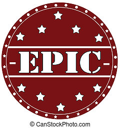 Epic-stamp - Stamp with text Epic,vector illustration