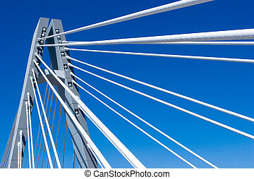 Bridge Span - The Span of a Big Bridge with Blue Sky