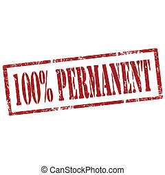 Permanent-stamp - Grunge rubber stamp with text 100%...