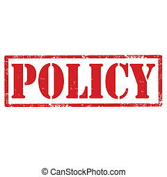 Policy-stamp - Grunge rubber stamp with text Policy,vector...