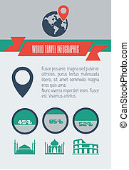 Travel Infographic Element - Travel Flat Infographic...