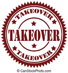 Takeover-stamp - Rubber stamp with text Takeover,vector...