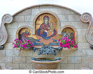 Holy water source. - Source of holy water about the Minsk...