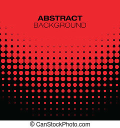 Abstract Black Red Halftone Background