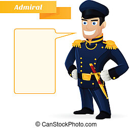 Admiral Admiral's dress uniform with his dirk, on a white...