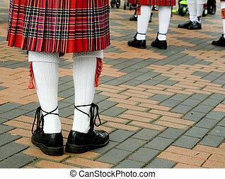 escocés, tarten, Falda escocesa