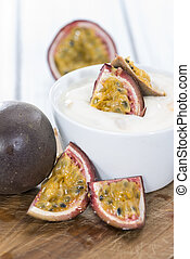 Maracuja Yogurt - Homemade Maracuja Yogurt decorated with...