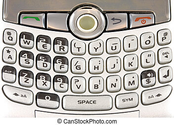 Mobile Keypad - Closeup of mobile phone keypad, filling...