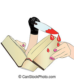 A Novel dangerous - A woman reads a detective novel