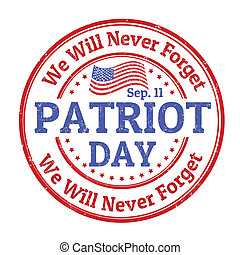 Patriot Day stamp - Grunge rubber stamp with the text...