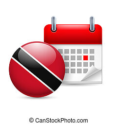 Icon of National Day in Trinidad and Tobago - Calendar and...