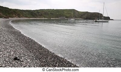 Shingle beach Lulworth Cove Dorset - Lulworth Cove Dorset...