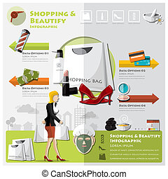 Woman Shopping Beautify And Lifestyle Info