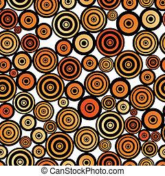 Retro style seamless circle pattern