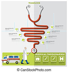 Health And Medical Timeline Infographic Design Template