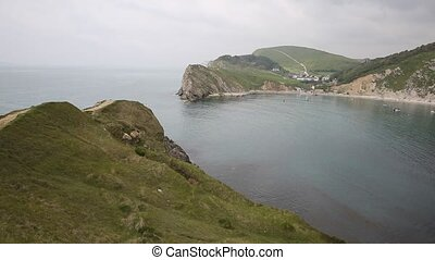 Lulworth Cove Dorset PAN - Lulworth Cove Dorset England UK...