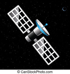 satellite blue Planet - satellite in the boundless expanses...