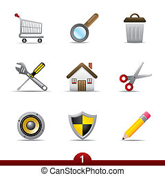 Icon series - web universal - Web universal icon set from a...