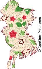 Hawaiian girl vintage