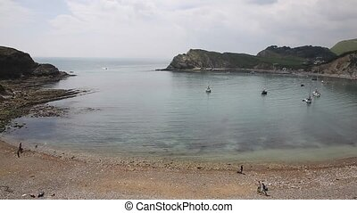 Entrance to Lulworth Cove Dorset uk - Lulworth Cove Dorset...