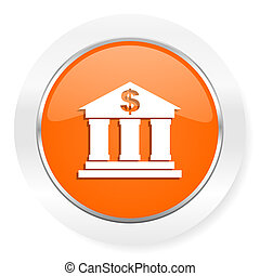 bank orange computer icon - orange computer icon
