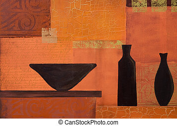 still life painting, artwork is created and painted by...