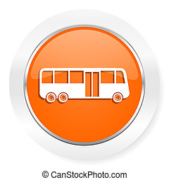 bus orange computer icon - orange computer icon