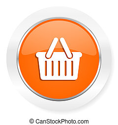 cart orange computer icon - orange computer icon