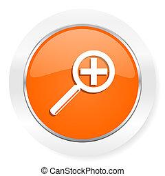 lens orange computer icon - orange computer icon
