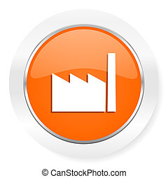 factory orange computer icon - orange computer icon