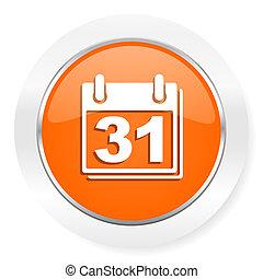 calendar orange computer icon - orange computer icon
