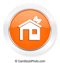 house orange computer icon - orange computer icon