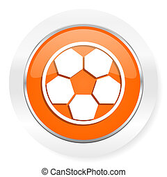 soccer orange computer icon - orange computer icon