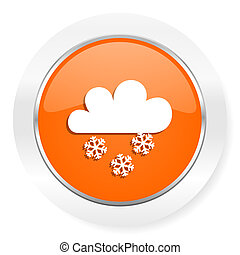 snowing orange computer icon - orange computer icon