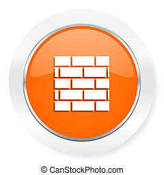 firewall orange computer icon - orange computer icon