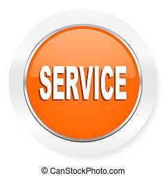 service orange computer icon - orange computer icon
