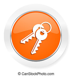 keys orange computer icon - orange computer icon