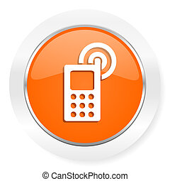 phone orange computer icon