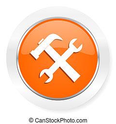 tool orange computer icon