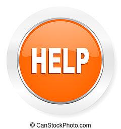 help orange computer icon