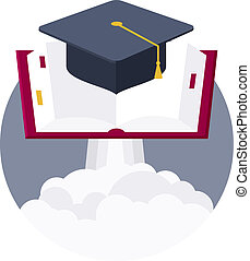 Launch pad for education - Conceptual illustration of...